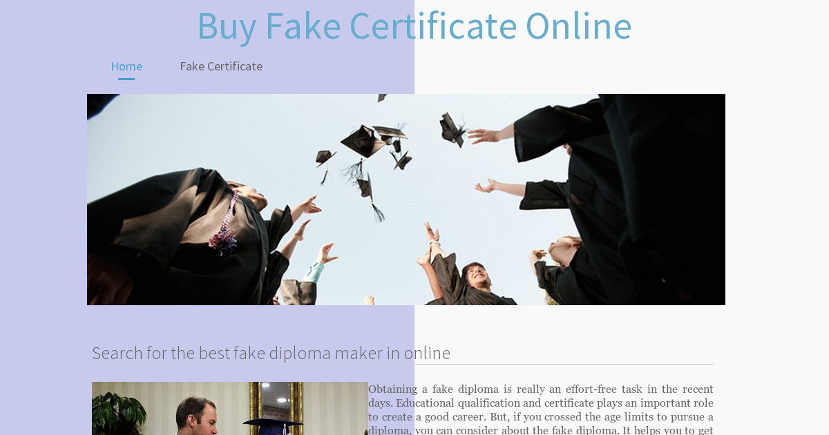 search for the best fake diploma maker in online